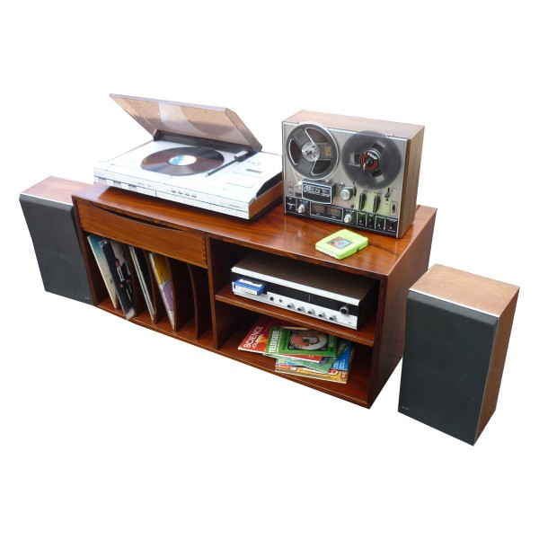Bang & Olufsen Music Centre, Akai Reel to Reel and 8 Track player set-up