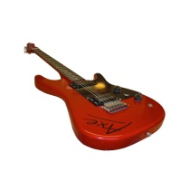 Red 'Axe' Electric Guitar Hire