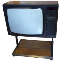 TV & Video Props Logik 4098 Wooden Case Teletext CTV