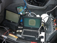 Laptops in the cab Hire