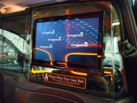 LCD screen with disco lighting reflections Hire