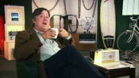 Stephen Fry with our Goblin Teasmade Hire