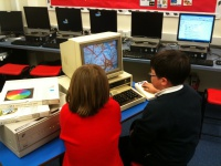 Kids using our BBC Domesday System Hire