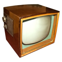 TV & Video Props Philips 1768 Wooden Case 50's Television