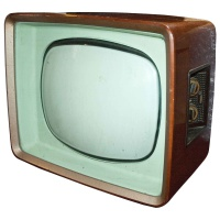 TV & Video Props Philips Wooden Case 60's / 70's Television