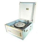 Dansette Bermuda MK1 Record Player- Baby Blue & White