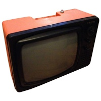 TV & Video Props Hitachi P-20 Orange Portable Television