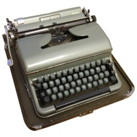 Office Equipment Blue Bird Typewriter