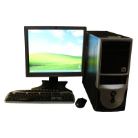 Microsoft XP Large Black and Silver PC Setup Hire
