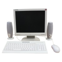 Office Equipment Office Screens and keyboard setup (White LCD)