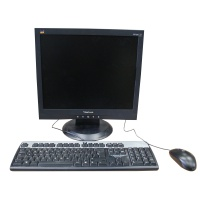 Office Equipment Office Screens and keyboard setup (Black LCD)
