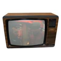 "TV & Video Props Pye Studio Colour 20"" Wood Case Teletext TV"