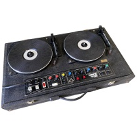 Music & Studio Tech Disco Turntables, Speakers with Lights