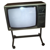 Mitsubishi Colour Wooden Case TV Receiver Hire