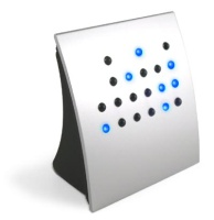 Blue LED Binary Desk Clock Hire