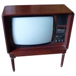 Image of Dynatron Wooden Television with Doors