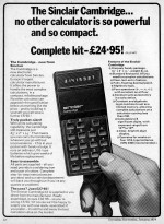 Picture of Sinclair Cambridge Calculator